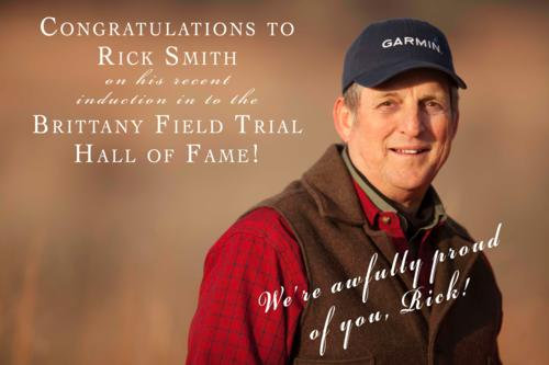 Rick Smith Inducted in to the Brittany Field Trial Hall of Fame